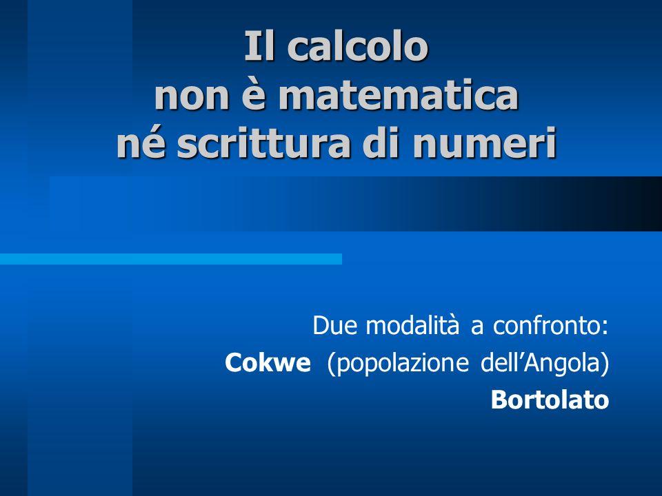 Il calcolo non è matematica né scrittura di numeri
