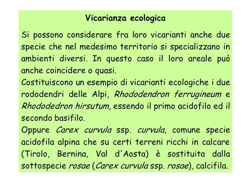 Vicarianza ecologica