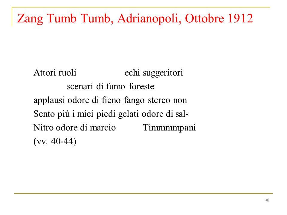 Zang Tumb Tumb, Adrianopoli, Ottobre 1912