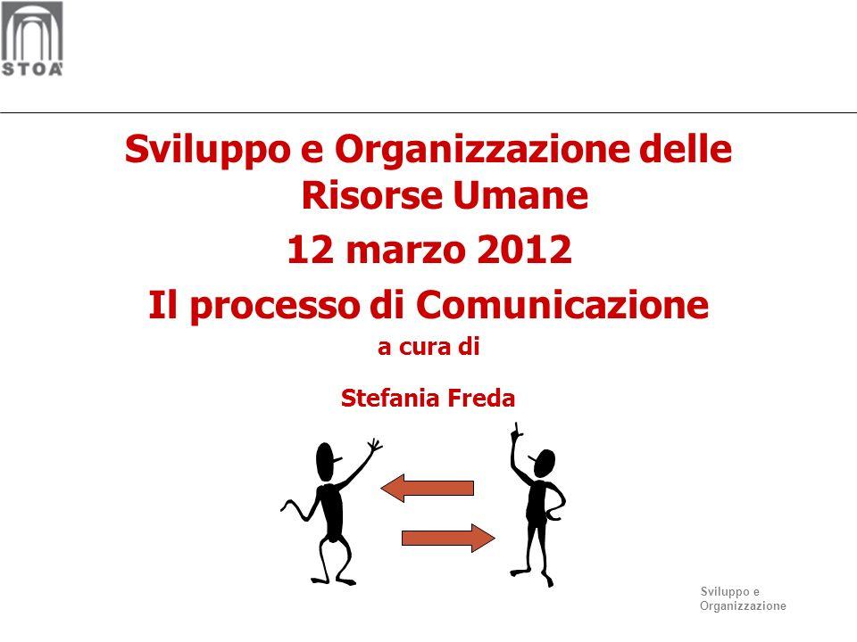 Sviluppo e Organizzazione delle Risorse Umane 12 marzo 2012