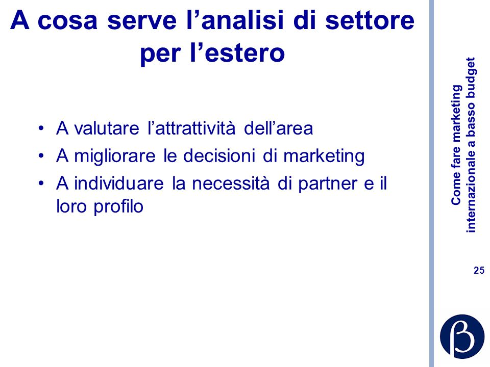 A cosa serve l'analisi di settore per l'estero