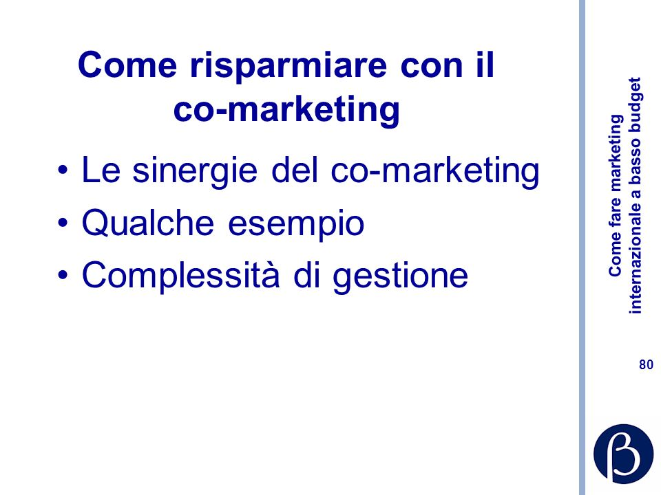 Come risparmiare con il co-marketing