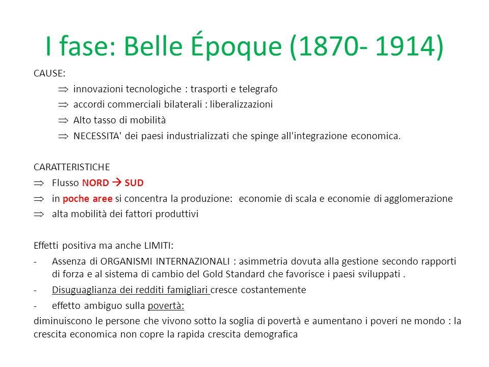 I fase: Belle Époque (1870- 1914)