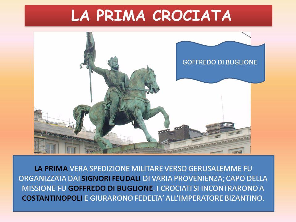 LA PRIMA CROCIATAGOFFREDO DI BUGLIONE.
