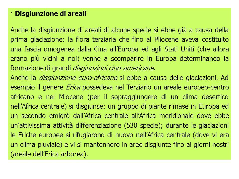 · Disgiunzione di areali