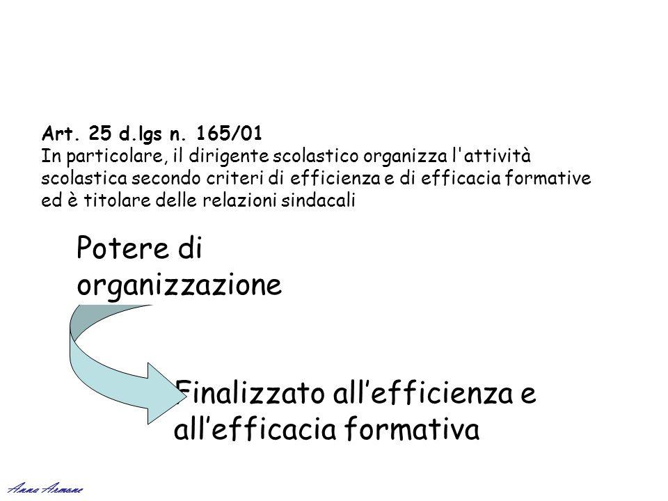 Potere di organizzazione