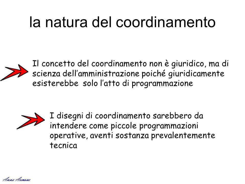 la natura del coordinamento