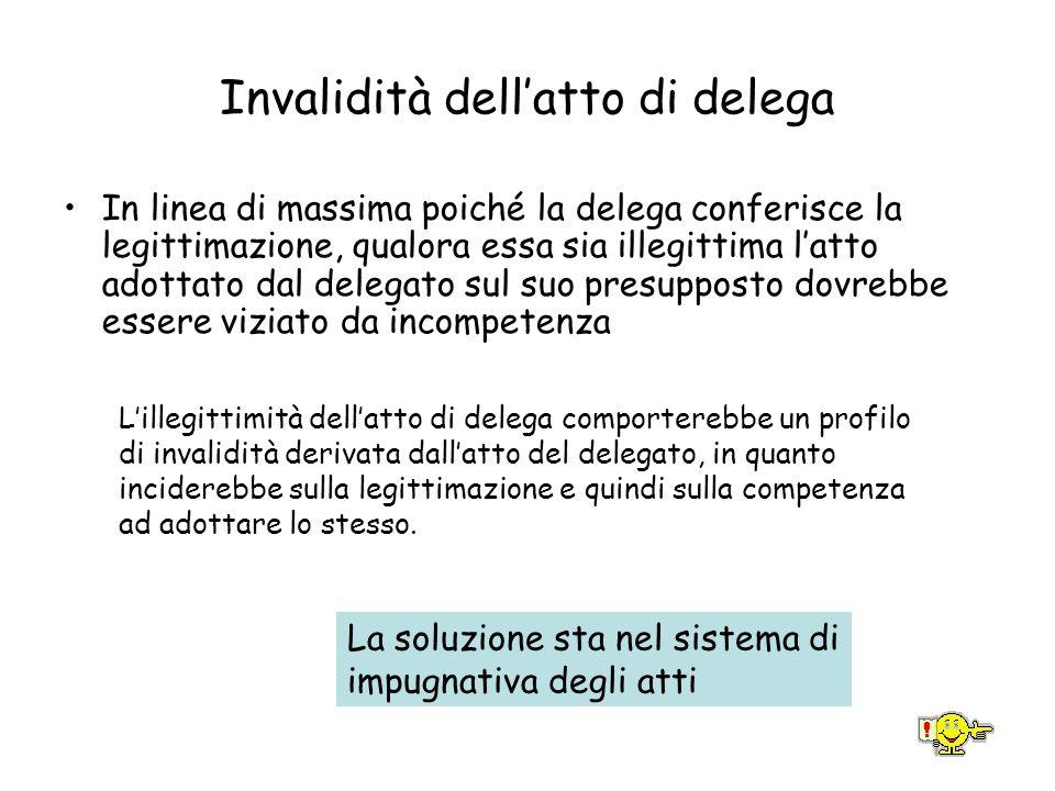 Invalidità dell'atto di delega