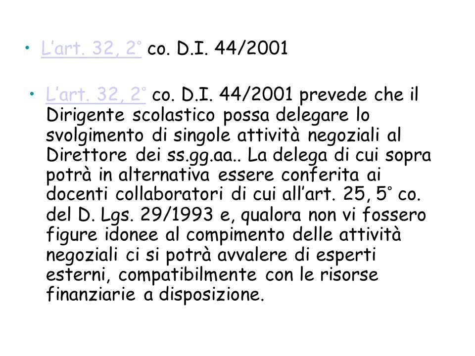 L'art. 32, 2° co. D.I. 44/2001