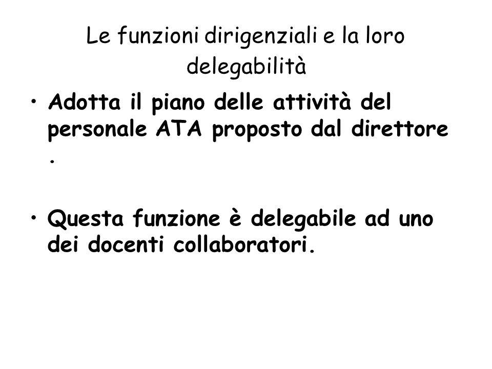 Le funzioni dirigenziali e la loro delegabilità