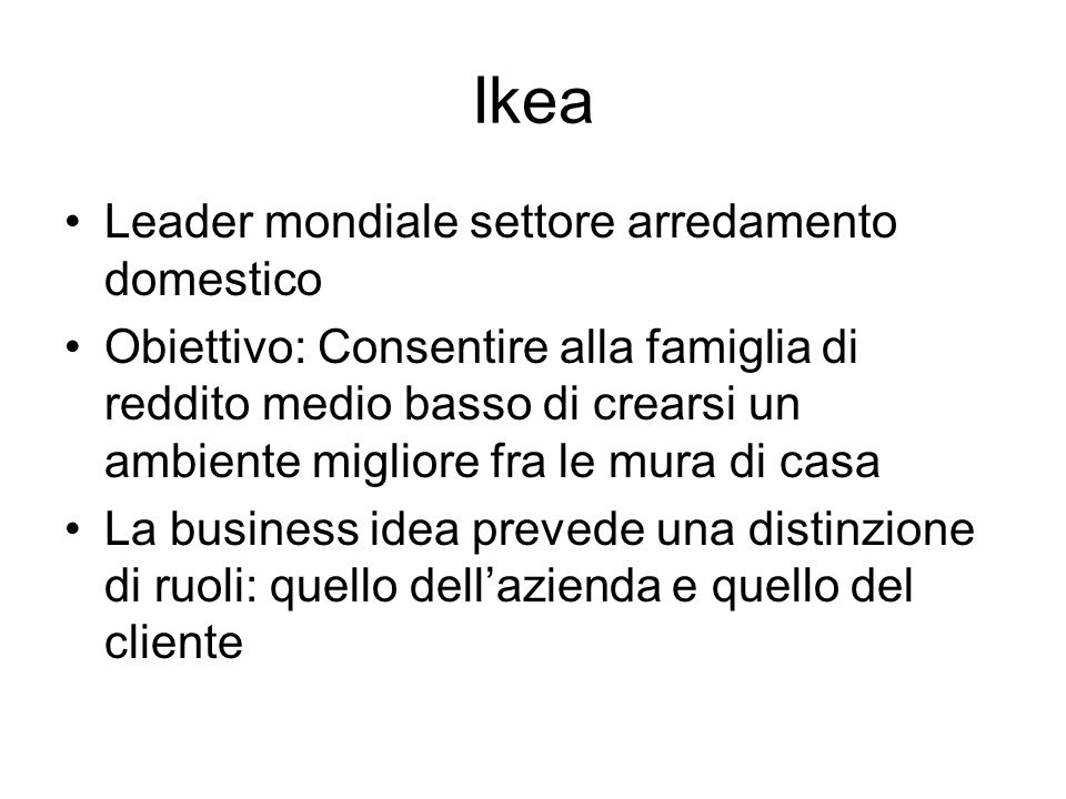 Ikea Leader mondiale settore arredamento domestico