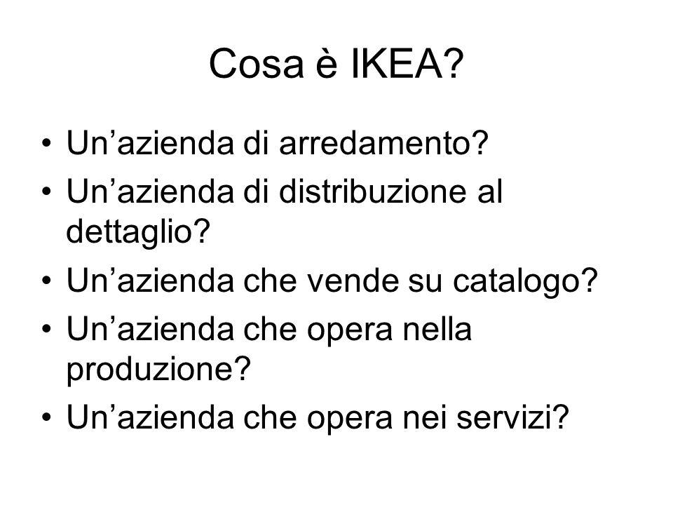 Cosa è IKEA Un'azienda di arredamento