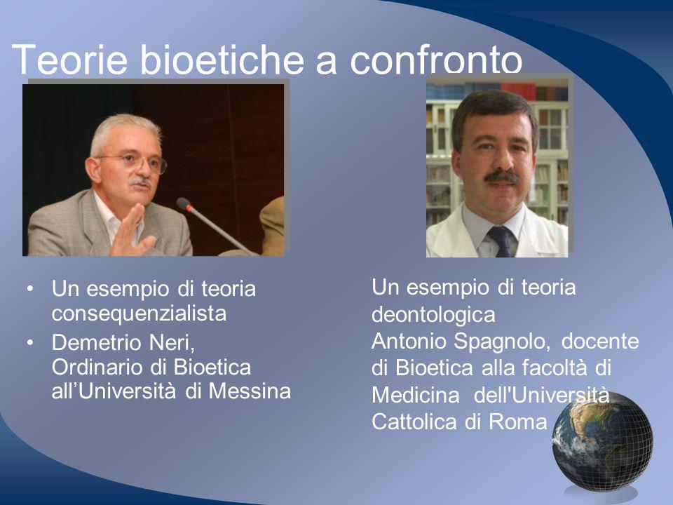 Teorie bioetiche a confronto