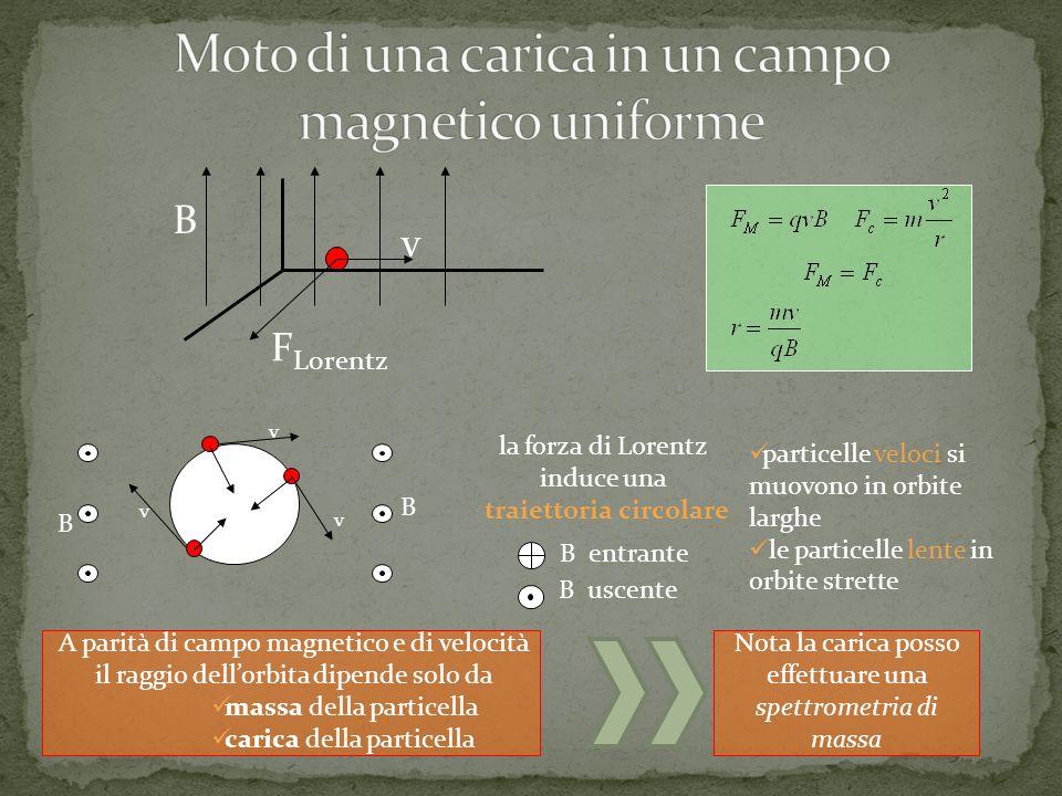Moto di una carica in un campo magnetico uniforme