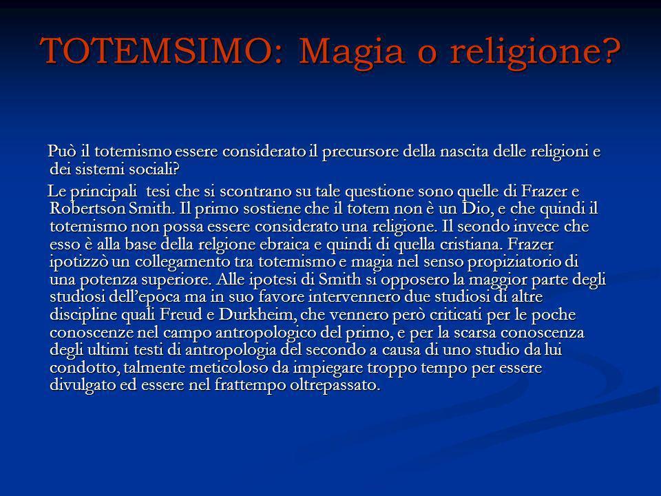 TOTEMSIMO: Magia o religione