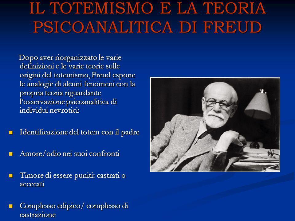 IL TOTEMISMO E LA TEORIA PSICOANALITICA DI FREUD