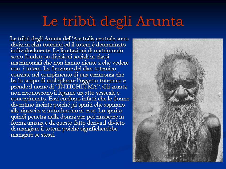Le tribù degli Arunta