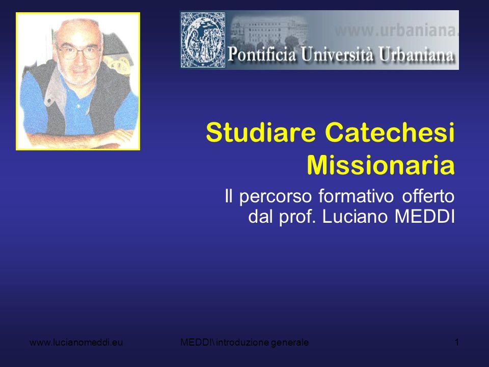 Studiare Catechesi Missionaria