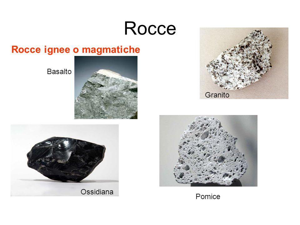 Rocce Rocce ignee o magmatiche Basalto Granito Ossidiana Pomice