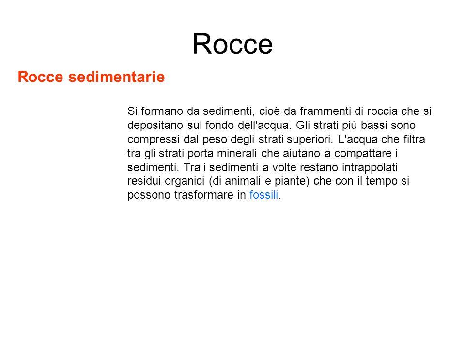 Rocce Rocce sedimentarie