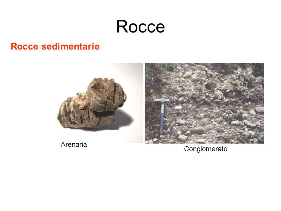 Rocce Rocce sedimentarie Arenaria Conglomerato
