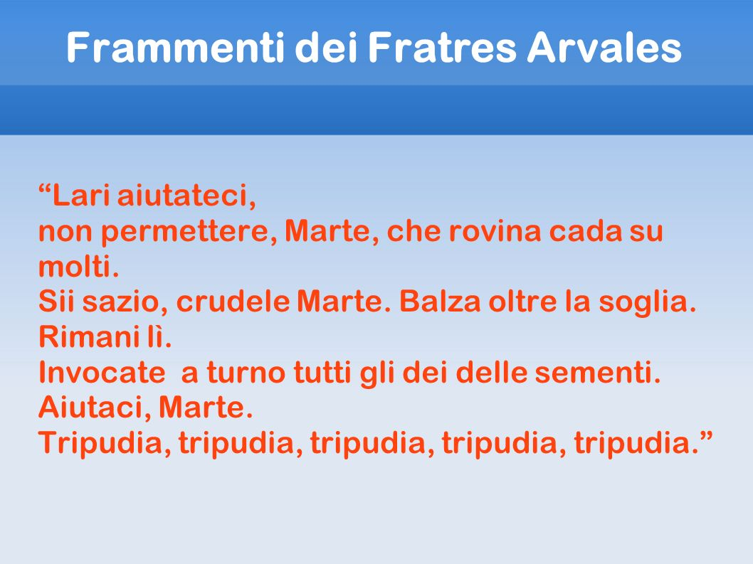 Frammenti dei Fratres Arvales