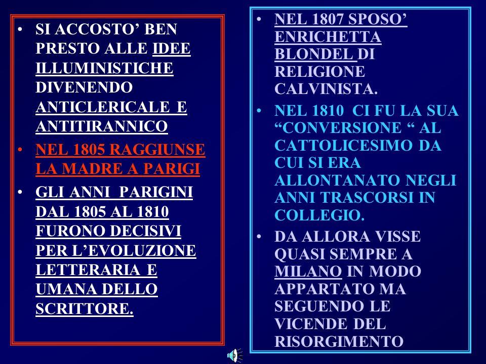 NEL 1807 SPOSO' ENRICHETTA BLONDEL DI RELIGIONE CALVINISTA.