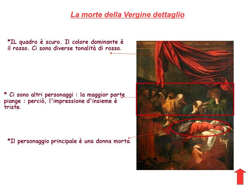 La morte della Vergine dettaglio