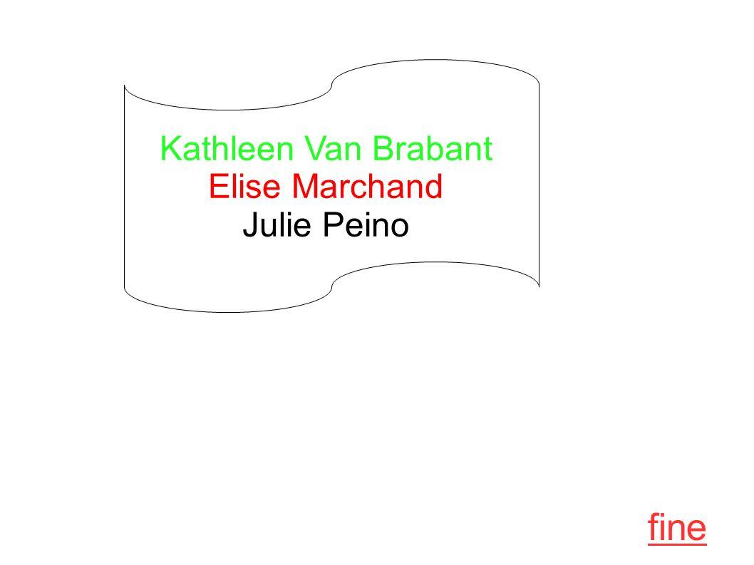 Kathleen Van Brabant Elise Marchand Julie Peino fine
