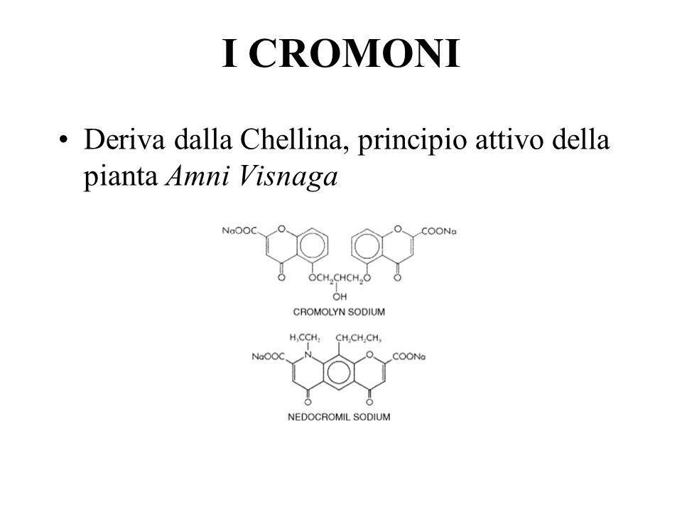 I CROMONI Deriva dalla Chellina, principio attivo della pianta Amni Visnaga.