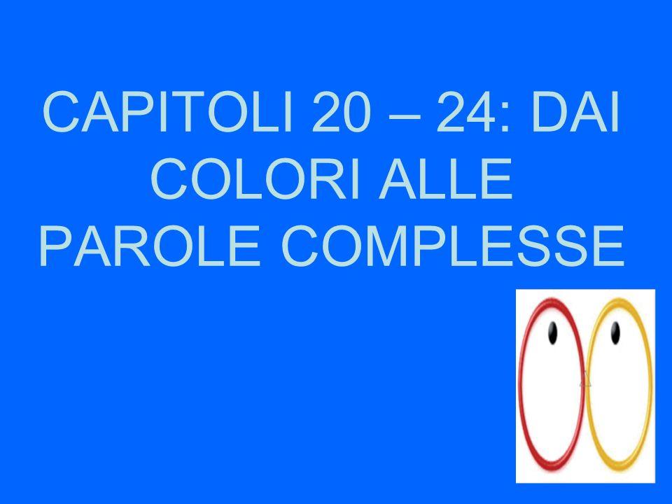 CAPITOLI 20 – 24: DAI COLORI ALLE PAROLE COMPLESSE