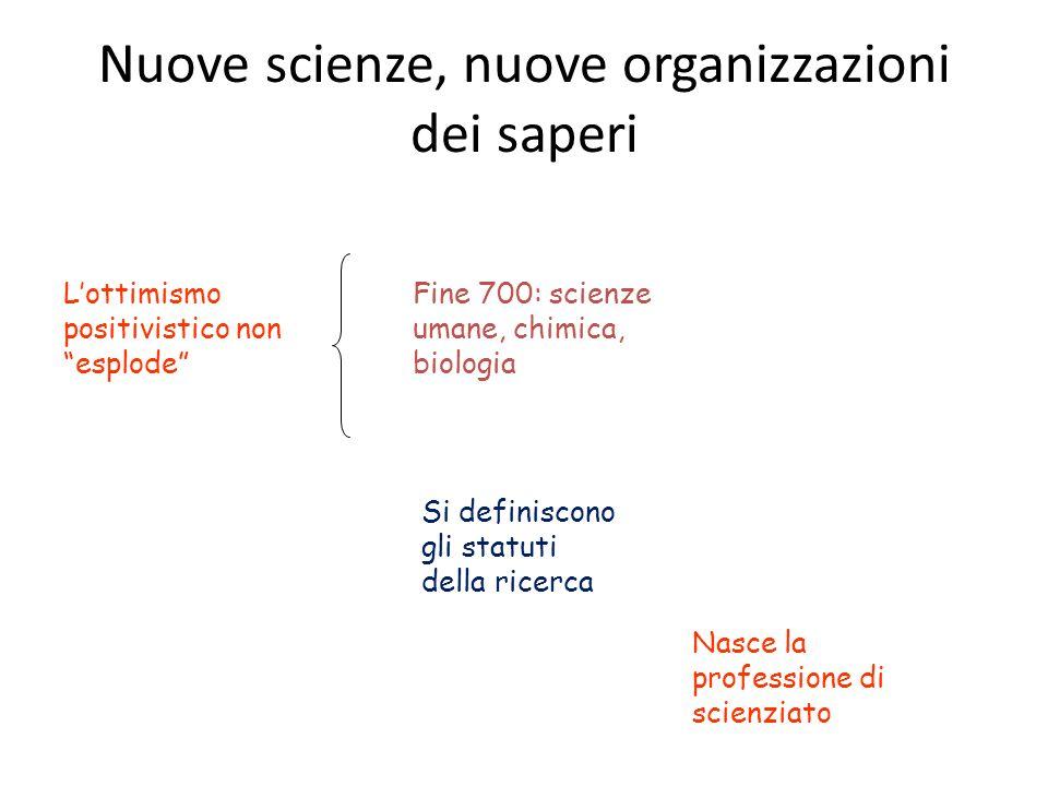 Nuove scienze, nuove organizzazioni dei saperi