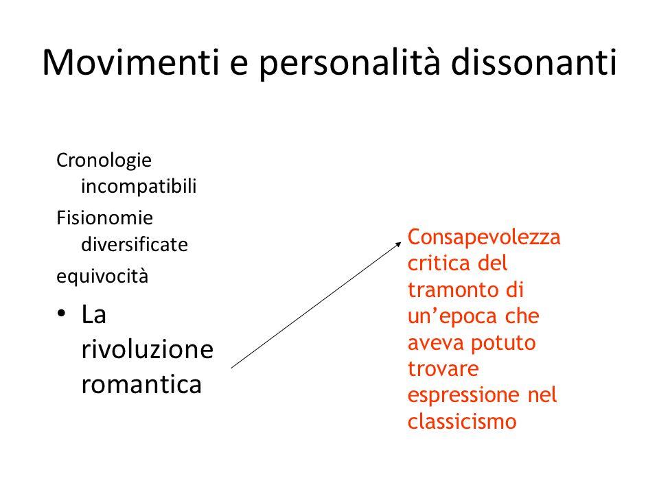 Movimenti e personalità dissonanti
