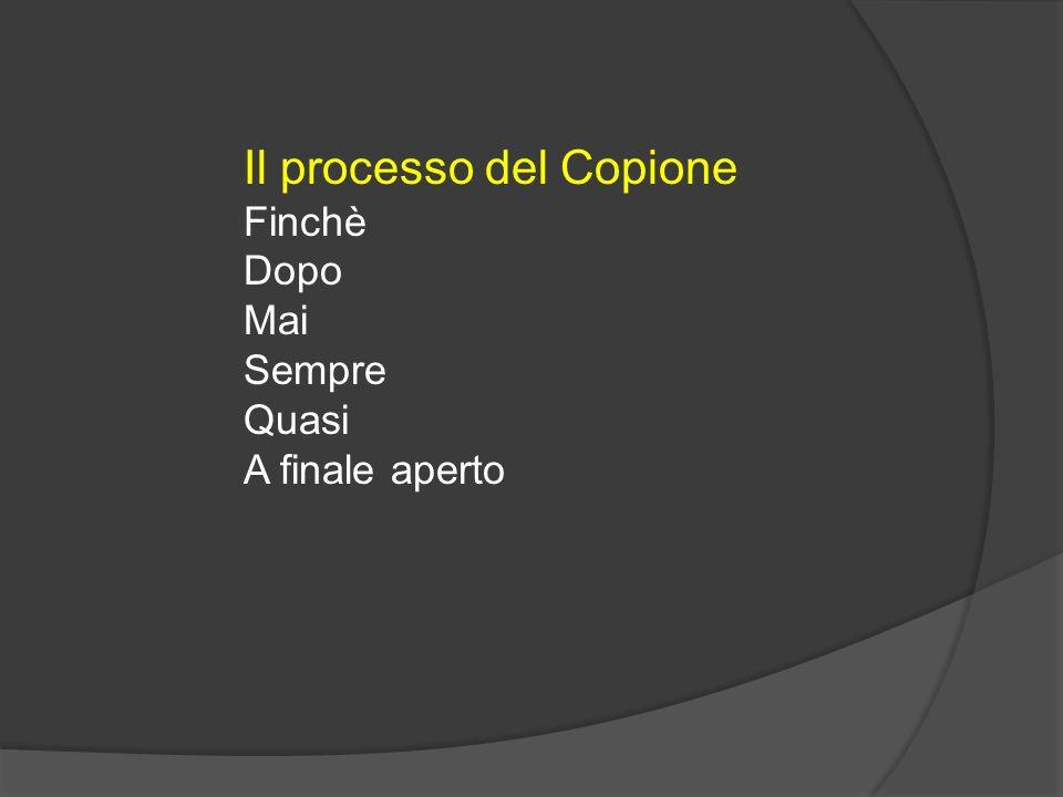 Il processo del Copione