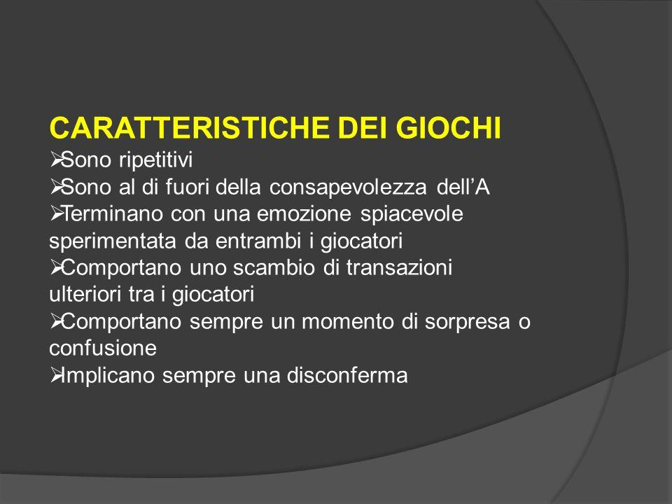 CARATTERISTICHE DEI GIOCHI