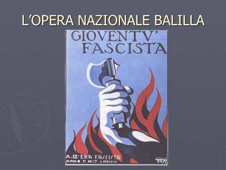 L'OPERA NAZIONALE BALILLA