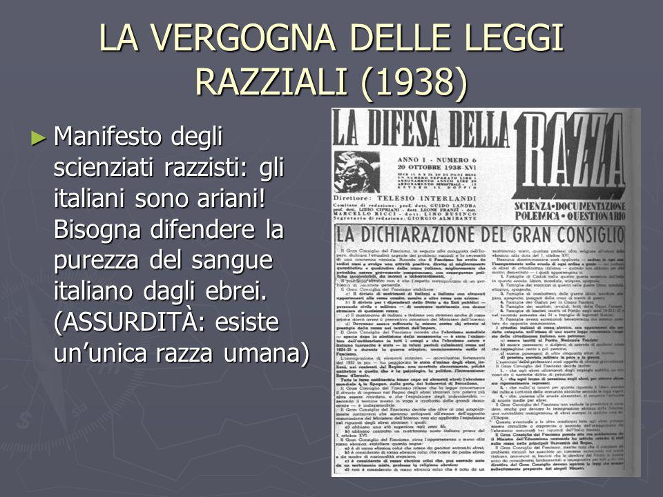 LA VERGOGNA DELLE LEGGI RAZZIALI (1938)