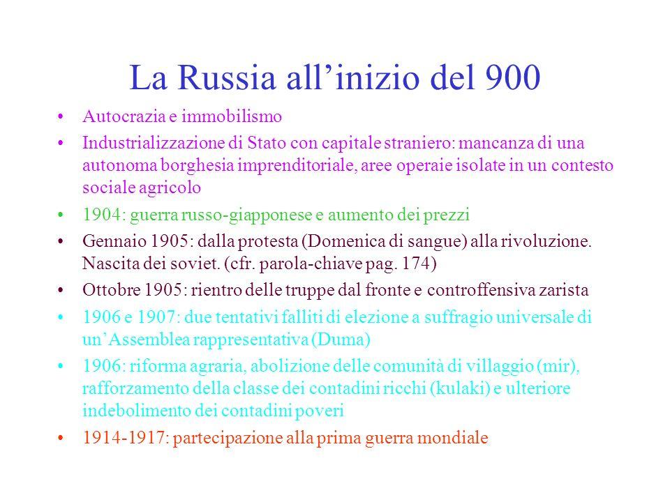 La Russia all'inizio del 900