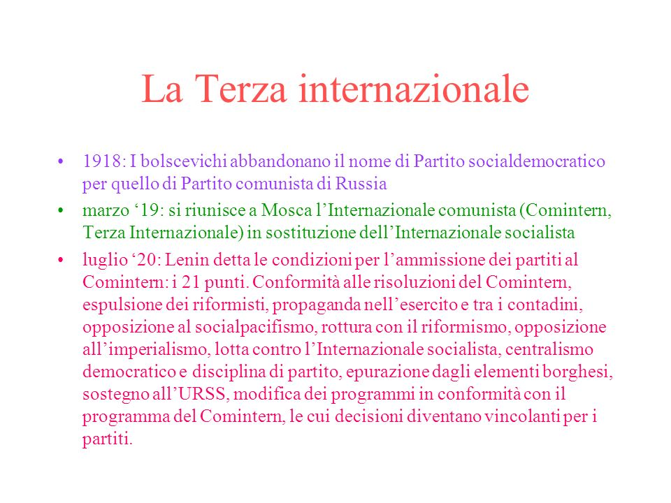 La Terza internazionale