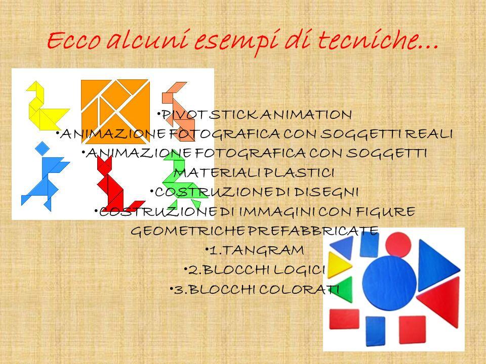 Ecco alcuni esempi di tecniche…