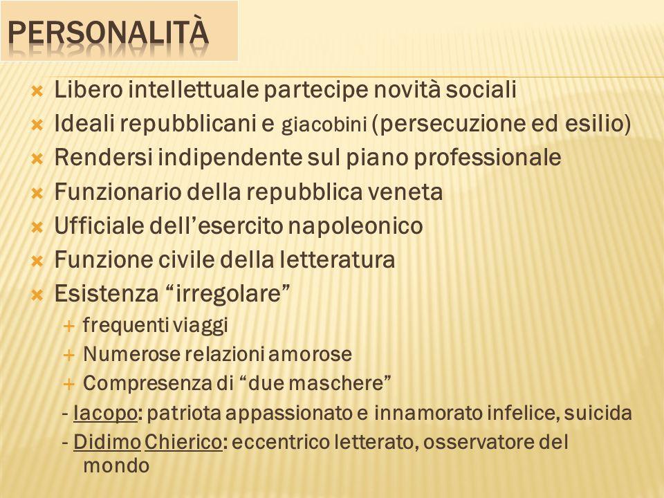 Personalità Libero intellettuale partecipe novità sociali