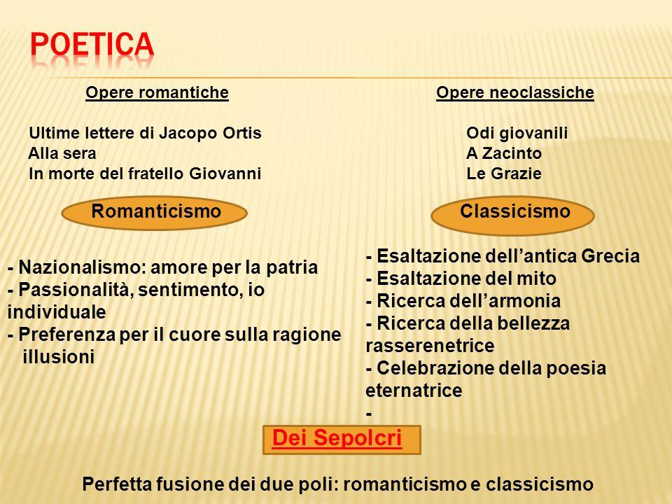 Perfetta fusione dei due poli: romanticismo e classicismo