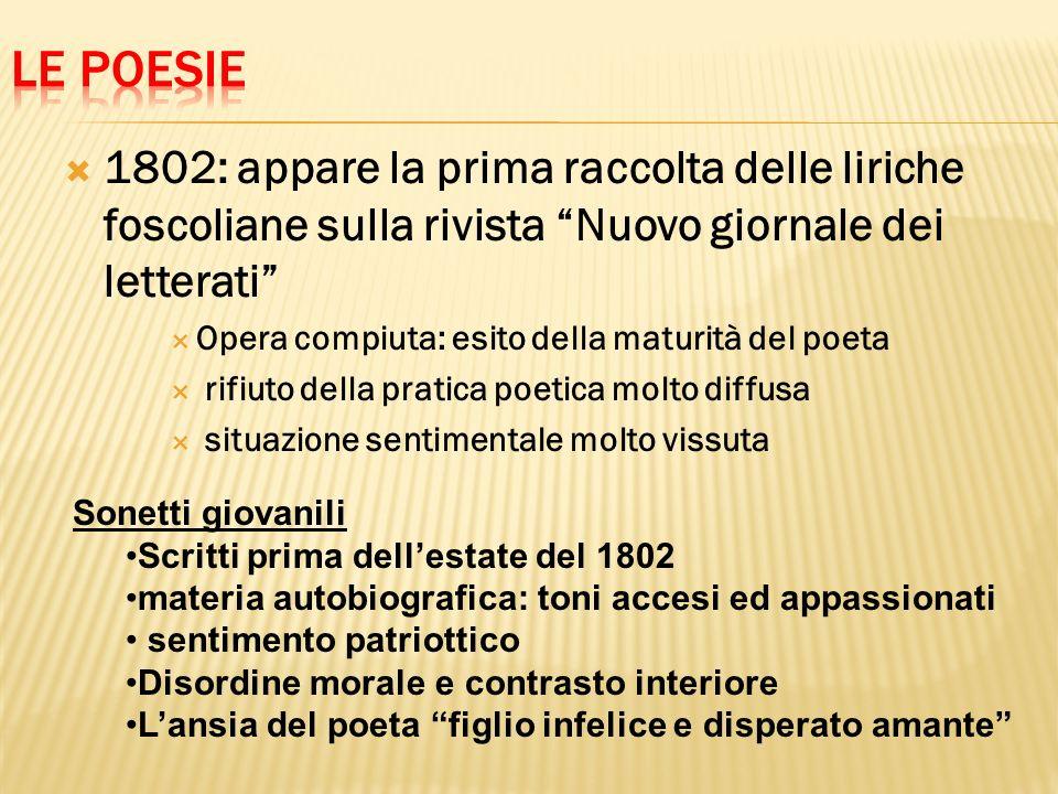 Le poesie 1802: appare la prima raccolta delle liriche foscoliane sulla rivista Nuovo giornale dei letterati