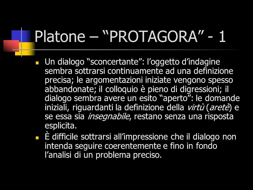 Platone – PROTAGORA - 1