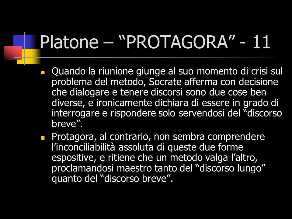Platone – PROTAGORA - 11