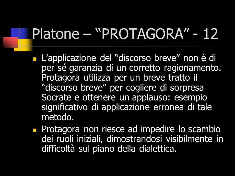 Platone – PROTAGORA - 12