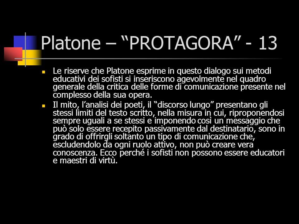 Platone – PROTAGORA - 13
