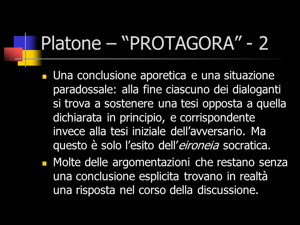 Platone – PROTAGORA - 2