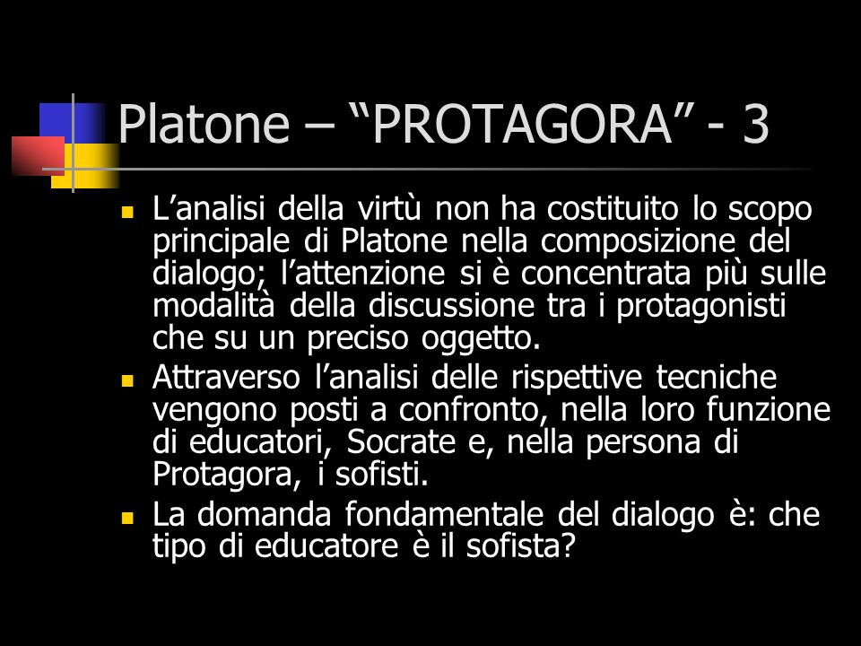 Platone – PROTAGORA - 3