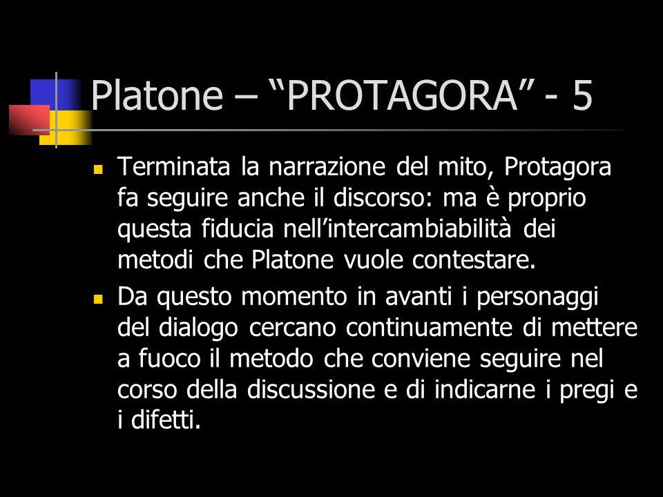Platone – PROTAGORA - 5